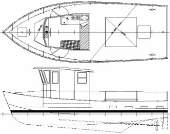 Threefold 6 Plywood trimaran boat plans