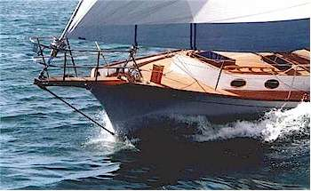 Shearwater 45 clipper bow